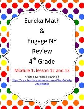 Eureka Math / Engage NY 4th Grade Review module 1 Lesson 1