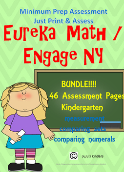 Eureka Math / Engage NY  Kindergarten Module 3 BUNDLE ASSE