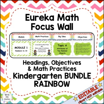Eureka Math / Engage NY - Math Focus Wall Headings Kindergarten