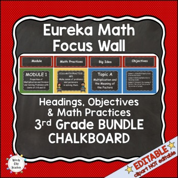 Eureka Math / Engage NY - Math Focus Wall 3rd Grade Chalkb