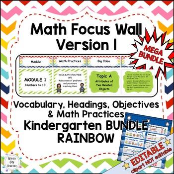 Eureka Math /Engage NY - Math Focus Wall Kindergarten Bund