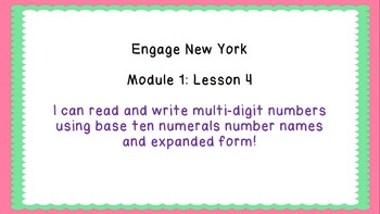 Eureka Math/Engage New York 4th Grade Module 1 Lesson 4