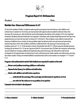 Eureka Math Engage New York First Grade Pretest Bundle for