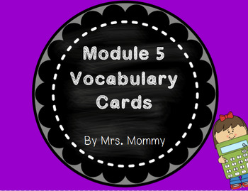 Eureka Math (Engage New York) Vocabulary Cards 2nd Grade Module 5