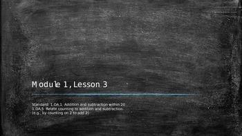 Eureka Math Grade 1, Module 1, Lesson 3