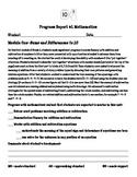 Eureka Math First Grade Module 1 Parent Progress Letter