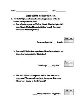 Eureka Math Grade One Module 4 Pretest