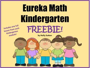 Eureka Math Kindergarten Lesson Freebies