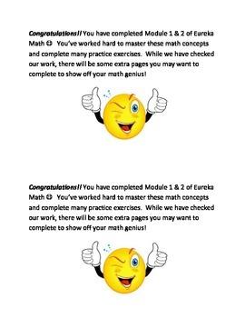 Eureka Math Module Workbook Notes for modules 1-7