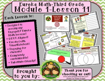 M1L11 Eureka Math-Third Grade: Module 1-Lesson 11 SMART Bo