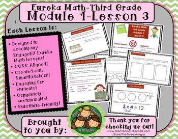M1L03 Eureka Math-Third Grade: Module 1-Lesson 3 SmartBoar