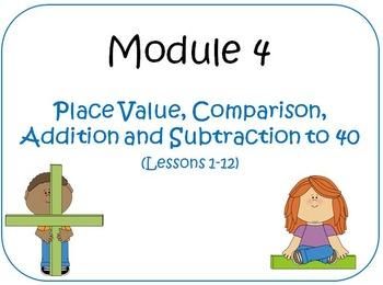 Eureka Math (aka Engage New York) First Grade Module 4 Les