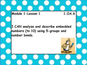 Eureka math module 1 lesson 1 first grade