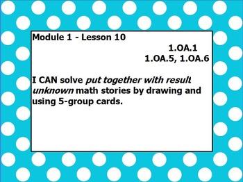 Eureka math module 1 lesson 10 first grade