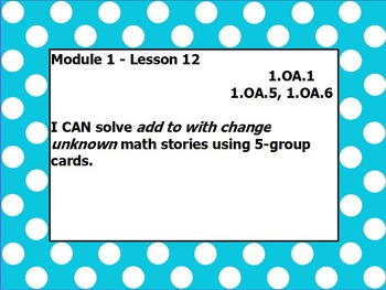 Eureka math module 1 lesson 12 first grade