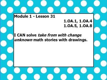 Eureka math module 1 lesson 31 first grade