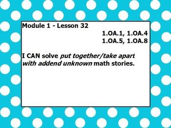 Eureka math module 1 lesson 32 first grade