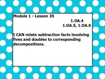 Eureka math module 1 lesson 35 first grade