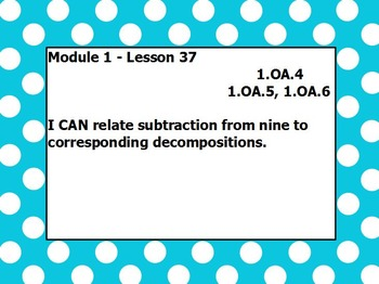 Eureka math module 1 lesson 37 first grade