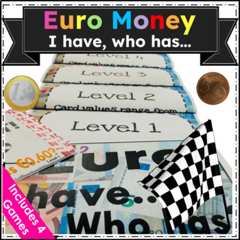 """Euro Money """"I have _, who has_?"""" (4 Games for $2!!)"""
