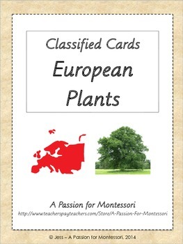 European Plants, 32 Three Part Cards, Europe continent kit