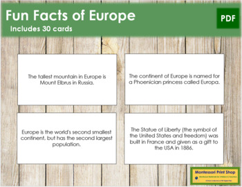 Europe Fun Facts