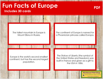 Europe Fun Facts (color borders)