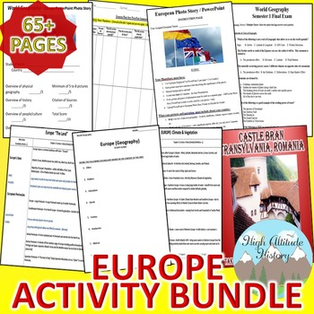 Europe Geography Activity *Bundle* (Geography)