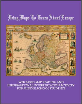 Europe Geography with Maps Middle School Interactive Works