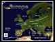 Europe Satellite Map Physical Geography PowerPoint Introduction