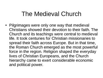 Europe and Christianity PowerPoint