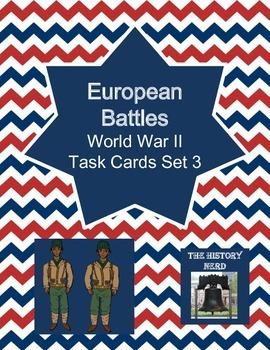 European Battles WWII Task Cards