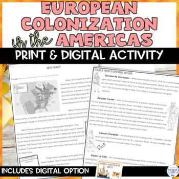 European Colonization in the Americas Nonfiction Reading C