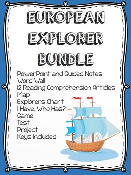 European Exploration Bundle- Power Point, Reading Comprehe