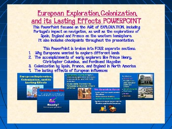 European Exploration, Colonization, and its Lasting Effect
