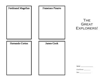 European Exploration Explorers Brochure Template Activity