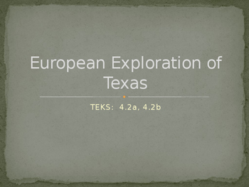 European Exploration in Texas PowerPoint