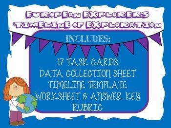 European Explorer Timeline of Exploration-Task Cards, Time