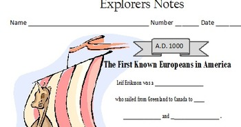 European Explorers Interactive Notes and Test