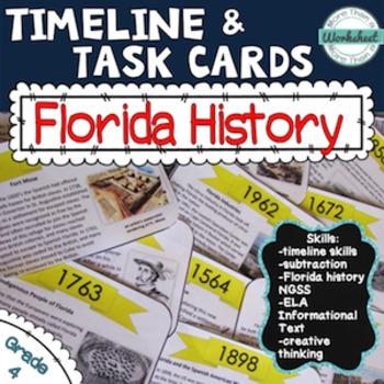 Florida History Timeline Task Cards (Common Core ELA)