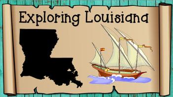Explorers of Louisiana Vocabulary Presentation and Matching Game