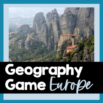 Geography Game: Europe's 48 Countries, Answer Key, PowerPo