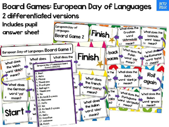 European Languages Board Game