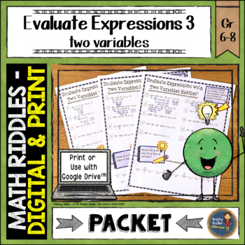 Evaluating Expressions 3 Math with Riddles