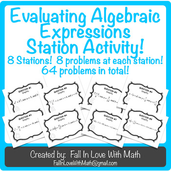 Evaluating Algebraic Expressions Using Order of Operations
