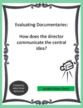 Evaluating Documentaries Guided Notes
