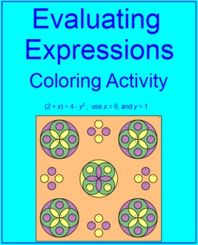 Evaluating Expressions #2 - Coloring Activity