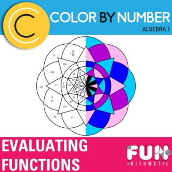 Evaluating Functions Color by Number
