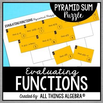 Evaluating Functions Pyramid Sum Puzzle