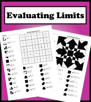Evaluating Limits #1 Color Worksheet